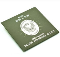 Wholesale Anti stain rub silver cloth polishing cloth with a cleaning cloth silver jewelry polishing cloth JZ00064