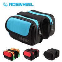 bicycle racks and panniers - RosWheel New Cycling Bicycle Bike Frame Pannier Front Tube Left and Right Twin Balance Bag Bike Rack Pouch
