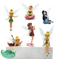 PVC toys - Flower Fairy Figures PVC toy Tinkerbell Fairy Action Figures Flying Fairy Dolls Decoration Set Children Gifts