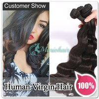Wholesale Hot Selling Full Head Natural Black A Malaysian Peruvian Brazilian Virgin Body Wave Hair Extensions Human Hair Weaving
