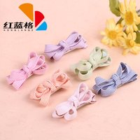 Wholesale Children Lovely Red and Blue Grid Listing High end Fashion Accessories Striped Fabric Hairpin Bow Barrettes Hair Clips W30777