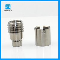 Wholesale Majesty High Quality MJB TM48 Male mm mm Titanium Nails Doomless Nail Dabber For Water Pipe Glass Bong