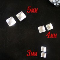 Wholesale 500pcs Crystal Color Faceted Small Square Shape Crystal Glass Flatback Stones Nail Art Supplies d Nail Art Sticker
