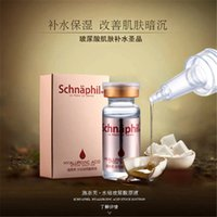 Wholesale 2015 Schnaphil Hyaluronic Acid Liquid ml Snail Pure Extract Moisturization Whitening Rejuvenation FaceCare Cream Serum