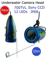 Wholesale 30 m cable Sony CCD TVL Professional Underwater fishing Camera head for fish finder underwater video camera fishing equipment device