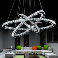 Wholesale Modern Chandelier Hot Sale Diamond Ring Led Crystal Chandelier Light Pendant Lamp Circles Guarantee Different Size Position