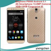 Wholesale Elephone P8000 Android G LTE Smartphone inch Phablet MTK6753 bit Octa Core GHz GB GB Fingerprint ID