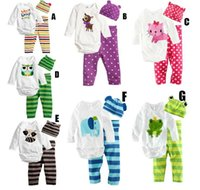 newborn clothing - Newborn Baby Kids Pieces Clothes Trousers hat long sleeved leotard Outfit Set Clothes
