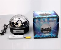Wholesale D11 Remote Control Mp3 Music LED Laser Lighting Crystal Magic Ball KTV Colors Spin Flash Light