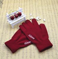 Gants capacitifs unisex de l'écran tactile d'iGlove de haute qualité pour l'iphone 5 5C gants d'iGloves d'iGloves d'appareil-photo d'ipad 5S