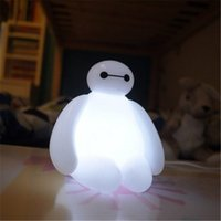 Wholesale 2015 BayMax USB LED Bulbs Light with remote control cute cartoon led night lighting Big Hero Breathing lamp children Kids gifts floodlight