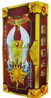 Wholesale NEW Cardcaptor Sakura Divination games BRPG tools golden color playing cards Maganic Wars THE CLOW Tarot cm