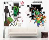 Wholesale 2 Minecraft D Wall Stickers Home Decoration Wallpaper Sticker Decal For Children s Room