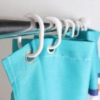 Wholesale Shower Curtain Hook Hanger Plastic Ring Bath Drape Loop Clasp DHL60139