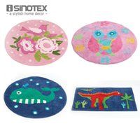anti slip floor mats - 1pcs Cartoon Floor Rug Cotton Kids Children Handmade Carpet Anti slip Mat For Living Room Bedroom Doormat Non slip tapete