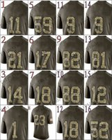 multi game - Green Salute To Service Limited Jersey Elite Game Limited Cheap American Jersey Football Jerseys Authentic Stitched