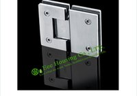 Wholesale Shower Clamps Hinges - Stainless Steel Glass Connector, 180 Degree Shower Door Hinge, Bathroom Glass Door hinge,Satin finished Glass clamp,glass clips