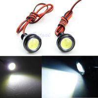 Wholesale W1101 Pair DRL Lens Car Led Eagle Eye Backup Tail Lights Rear Lamp Bulb White W