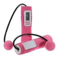 Wholesale 2015 New Digital skipping Cordless Skipping ABS plastic sponge handle Rope Wireless Calorie Jump Counter Convenient Lose Weight