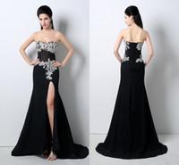 Robes réelles noir France-Cheap In Stock Robes de bal Black Lace Appliqued Sweetheart Gaine Party 100% Image actuelle Robe de Demoiselle d'Honneur Formelle Livraison gratuite TU468