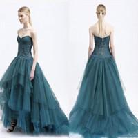 aqua specials - Aqua High Low Party Dresses Sweetheart Ruffles A line Lace Appliqued Hot Prom Gowns Zipper Back Special Occasion Dress