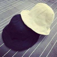 Cheap 2015 summer travel essential! Retro casual canvas bucket hat basin cap visor sun hat child couple models