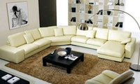 sectional sofa - Latest Modern Design Large L Shaped Genuine Leather sectional Corner modern sofa yellow leather sofa