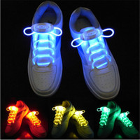 Wholesale 1 Pair Led Light Shoelace Glow Stick Flashing Colored Neon Shoelace Color Light Up Shoelace Lighting the Night for Party Hip hop Dancing