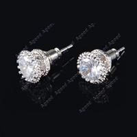 zirconia stud earrings - 2015 New Fashion Multi Prongs mm ct Cubic Zirconia Crystal Rhinestone Stud Earrings for women SV007302