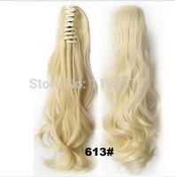 Compra La mandíbula para el cabello-Nuevo color rubio 613 #, 170g, 22inches, 1pc de la extensión del pelo de la resistencia de calor del Hairpiece de la pinza de pelo de la garra del mandíbula de la garra de la mandíbula