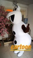 Cheap Hot Real Pictures Deluxe Olaf From Froze mascot costume!factory direct, free shipping !