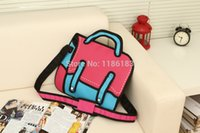 Wholesale D Jump Style D Drawing From Cartoon Paper Bag Comic Messenger Bag Colors