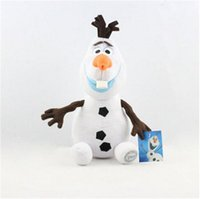 Wholesale Frozen Doll Elsa Anna Christmas Gift cartoon toy Frozen Olaf cm cm Plush Toys Cotton Stuffed Dolls the Snowman Plush Doll Stuffed Toy
