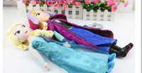 Unisex 3-4 Years Cloth/Rag free shipping Frozen Dolls 50cm 20 inch Elsa Anna Toy doll Action Figures Plush Toy for christmas gift