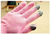 Wholesale The new smartphone gloves of Autumn and winter keeping warm gloves Apple android tablet special gloves pure color gloves CJH0001