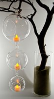 glass candle holder - 2015 Fashion New Transparent Hanging Glass Flower Plant Vase Candle Tealight Holder Terrarium Wedding Decor Home Decoration