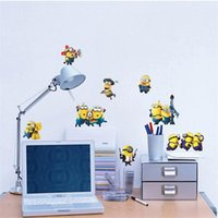 Wholesale Cartoon Minions Wall Sticker Despicable Me Removable Wall Sticker DIY Kids Child Room Decor Decal Home Decoration Stickers Wallpaper