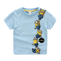 baby blue movies - Children Summer T Shirt Movie Despicable Me Cartoon Minion Printing Short Sleeve Pure Cotton Baby Kids Tshirts Colour Retail