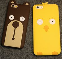 band chicken - New Band D Cartoon Chicken Bear Soft Silicone Case Cover for iPhone5S iphone6 S plus