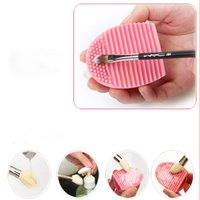 best makeup brush cleaner - Best Deal New Professional Women pc Cleaning Glove MakeUp Washing Brush Scrubber Board Cosmetic Clean Brush egg Pink Colour
