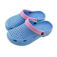 Wholesale Hot Sale Summer Style Womens Hole Shoes Lady Breathable Beach Garden Mules EVA Slippers Non slip Flat Shoes Colors Sizes