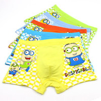 Wholesale Hot sale Despicable Me Minions Cartoon Lovely kids underwear High quality boys underwear L XL XXL fit yrs children C001