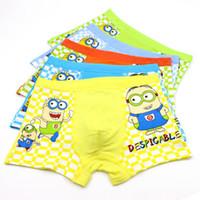 kids underwear - Hot sale Despicable Me Minions Cartoon Lovely kids underwear High quality boys underwear L XL XXL fit yrs children C001