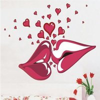 Cheap Sexy Lips Kiss Large Vinyl Wall Stickers On The Walls Bedroom Decorative Stickers Room Decals Sofa Decoration 140x100cm