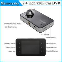 nueva venta 10PCS K6000 HD 720P del coche DVR de la cámara del vehículo del video de 25fps 2.4 pulgadas TFT LCD del envío Dash Cam Negro Box Car DHL 002778