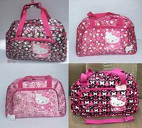 Wholesale Retail The new series of large capacity hello kitty bag large floral bags Travel Bags