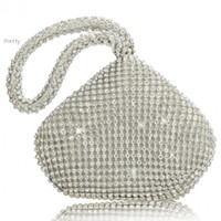 Wholesale Two Sided Crystal NEW Fashion Exquisite Crystal Evening Bag Noble Elegant Clutch Bags Handbags Party Bag Rhinestones