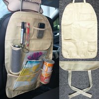Wholesale Car Auto Vehicle Back Seat Hanging Organizer Collector Storage Container Multi Pocket Utility Khaki Carrying Hold Bag Compartment Pouch