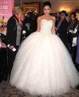 Wholesale Ball Gown Wedding Dresses Luxurious Plus Size Sweetheart Corset Back White Tulle Bridal Gowns Beads Sequins Vestido de Novia