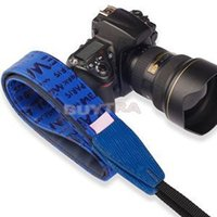 Wholesale 2014 Universal Cow Leather SLR DSLR Russian Series Camera Shoulder Neck Strap Navy Blue Digital Camera Video Straps For Sale